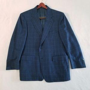 Canali 100% wool blazer jacket 44R two button
